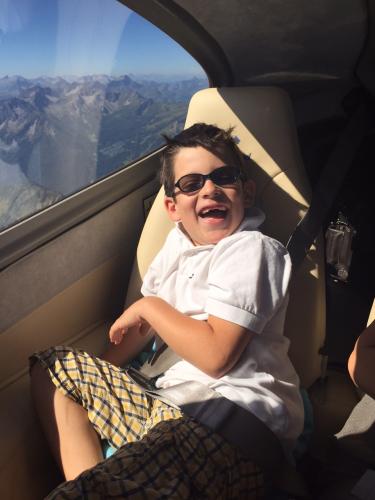 Fabio auf seinem Alpenrundflug