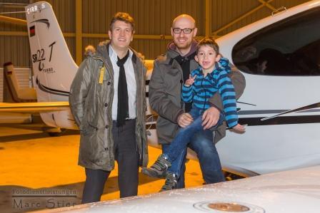 Jonas und Pilot Dr. Endriss fliegen an einem Tag von Essen nach München und zurück!