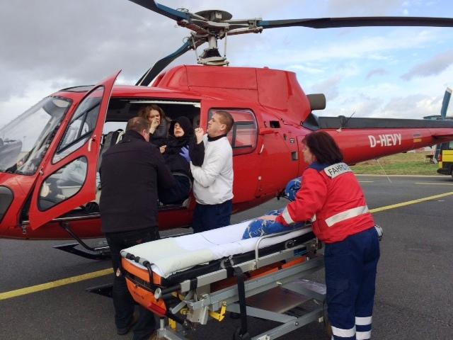 Mit dem Helikopter von Trollenhagen nach Bremen