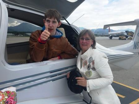 Ron freut sich schon auf den tollen Flug nach Hause