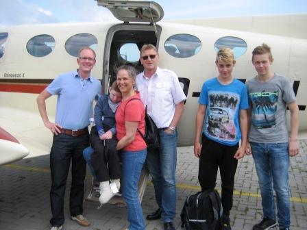 Kilian fliegt mit einer Cessna 425 nach Hause