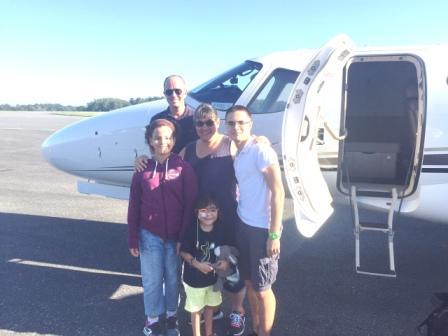 Ein toller Flug ab Usedom für Nena und ihre Familie