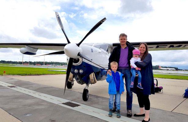 Hannah und Ben fliegen zum ersten Mal mit Flying Hope
