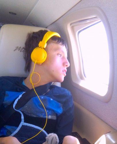 Timo fliegt von Augsburg nach Usedom