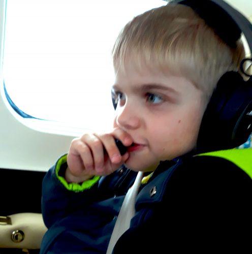 Konrad als Copilot an Bord