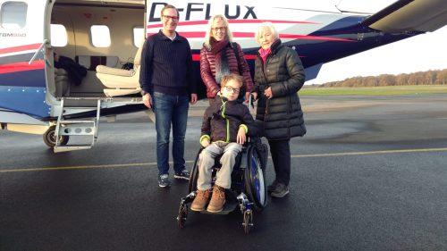 Niklas fliegt nach Nürnberg