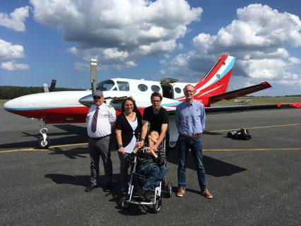 Entspannte Flüge nach Usedom für Timo