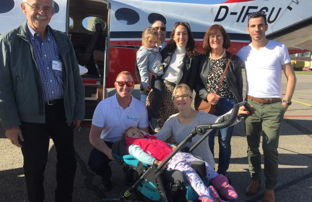 SAT 1 berichtet über den Flug mit Theresa
