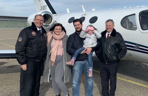 Der erste Flug für Mariella mit Flying Hope