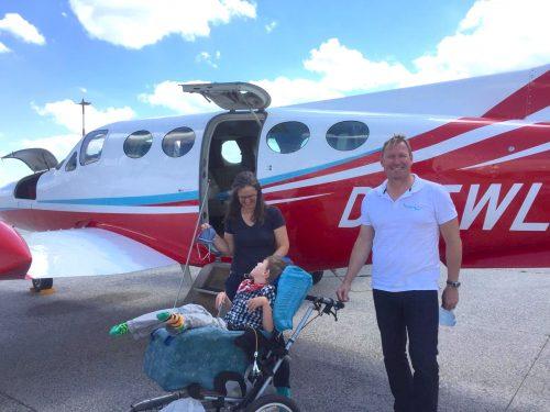 Ein Flug nach Linz für David