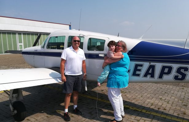Erster Flug für Raphael