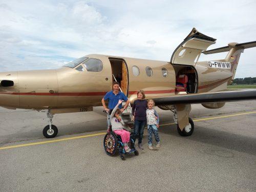 Ein schöner Flug für Greta