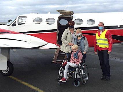 Das erste Flugerlebnis für Greta und ihre Familie