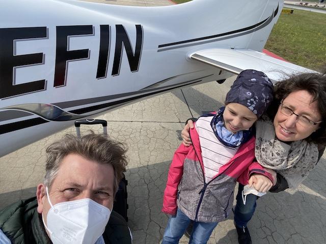 Pilot Dr. Axel Endriss im Einsatz