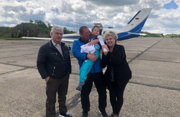 Nach der Kur auf Usedom ein Flug nach Hause