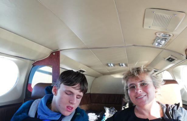 Nach der Reha fliegt Timo nach Hause